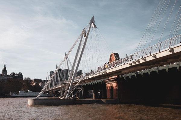 Hungerford Yaya Köprüsü, Southbank