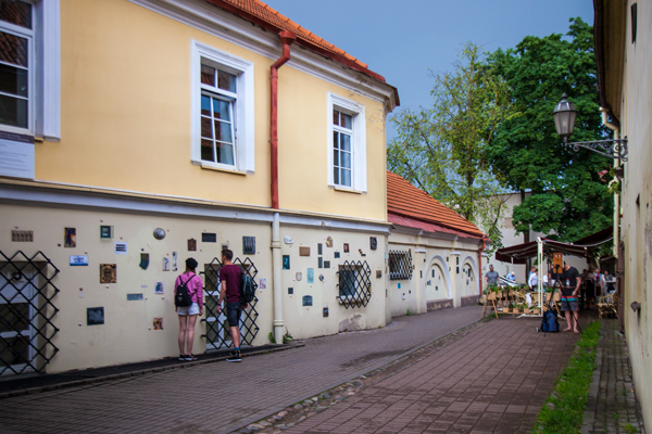 Vilnius gezilecek yerler: Literatu Gatve