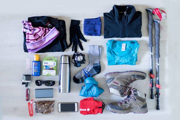 Yürüyüş için gerekli malzemeler